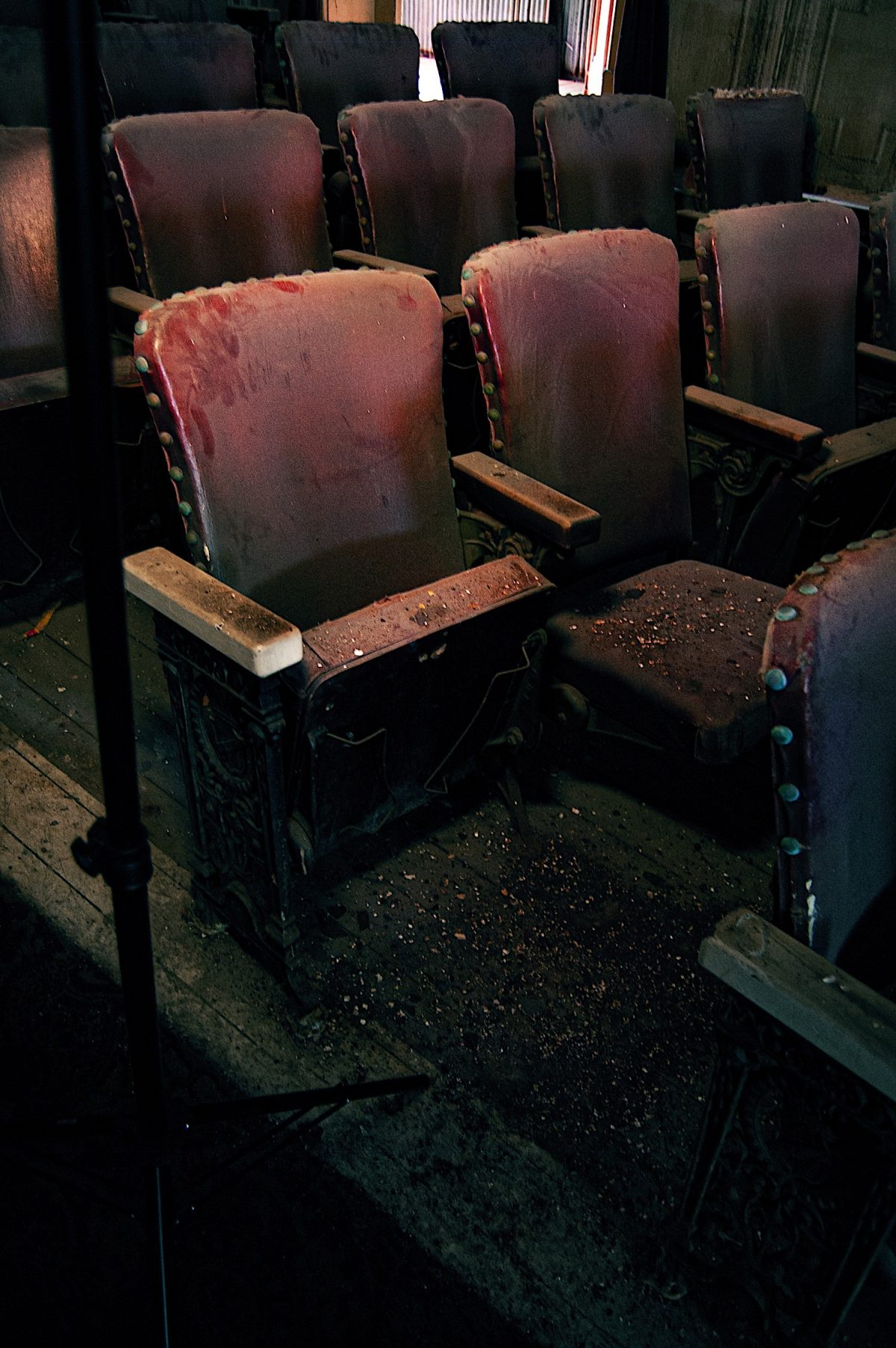Seats covered in dust