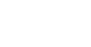 Klinkhart Hall Arts Center logo in white