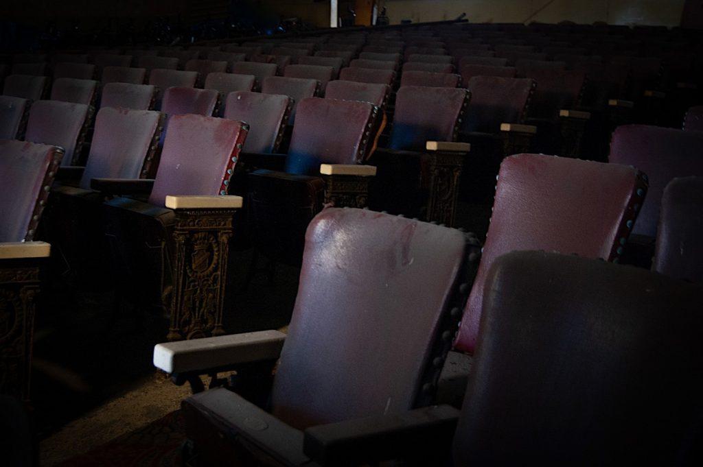 Row of seats across the isle