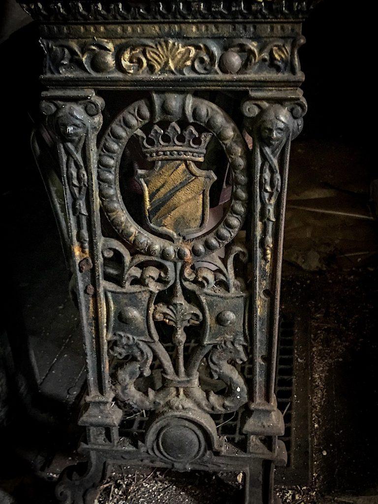 Detail of seat emblem