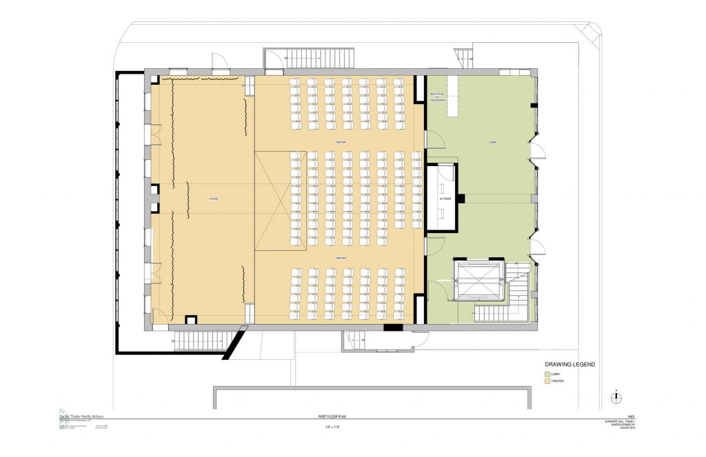 floor plan for renovated 1st floor theater
