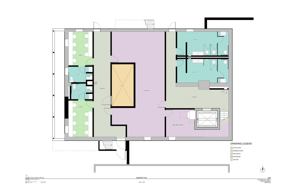 floor plan for renovated basement level
