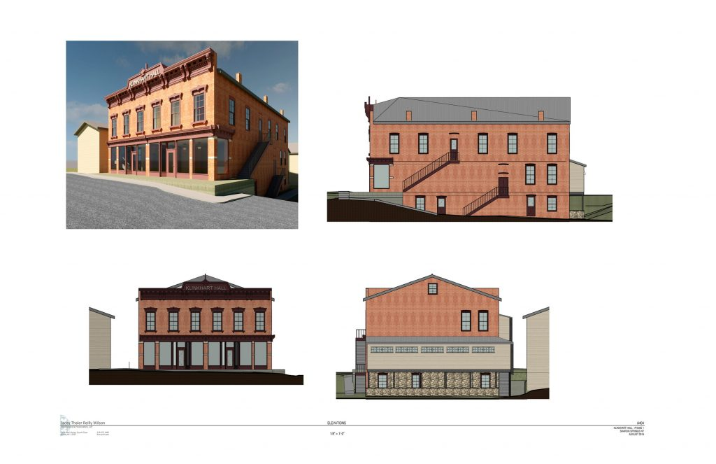 architect's rendering fully restored exterior