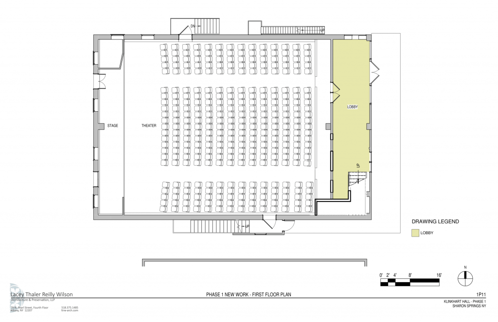 1st floor lobby, revised Phase 1 floor plan