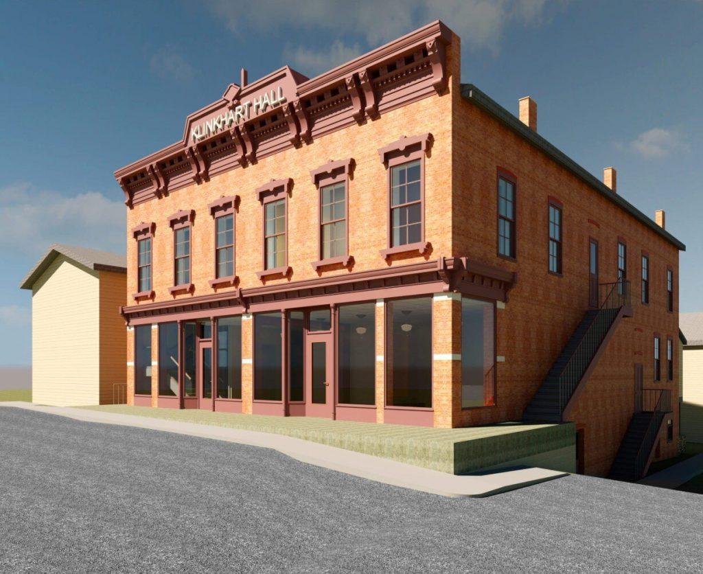 architect's rendering of the new Klinkhart Hall