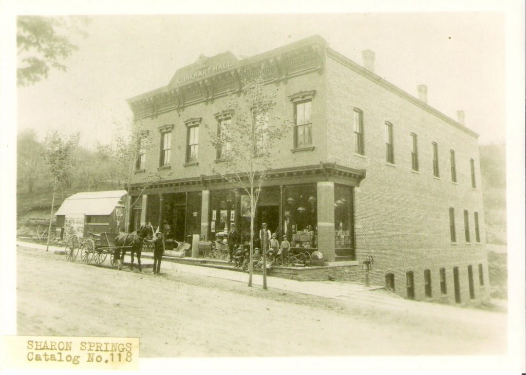Klinkhart Hall circa 1885, courtesy of Sharon Springs Historical Society