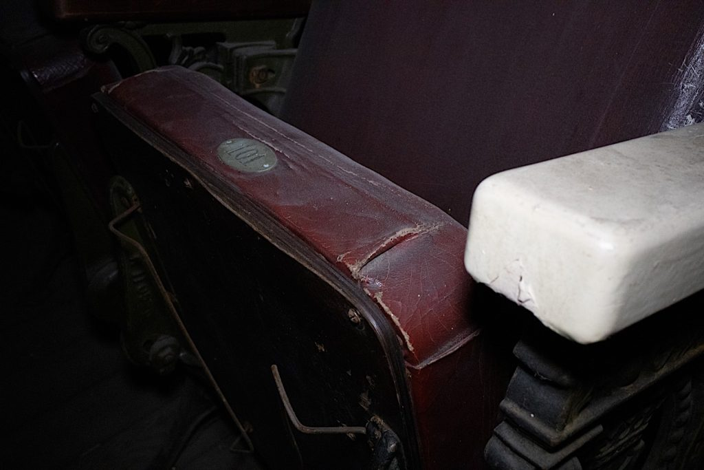 Seat detail with number 101