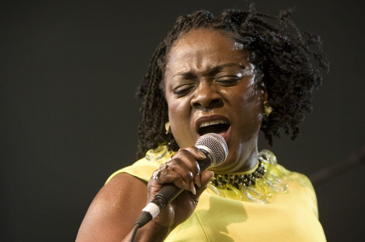 Sharon Jones singing