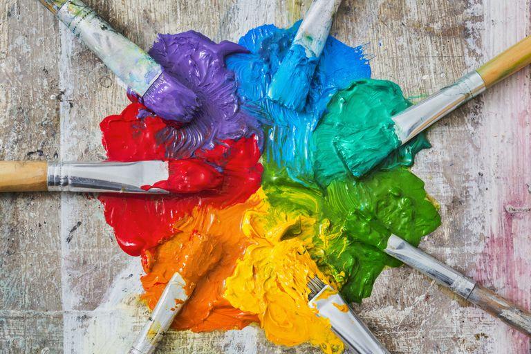 mixing paint pallet