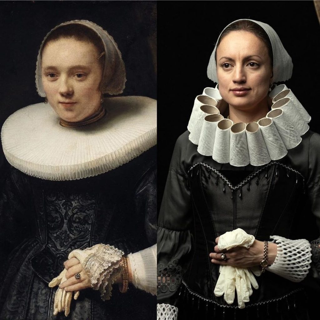 rembrandt woman with glove