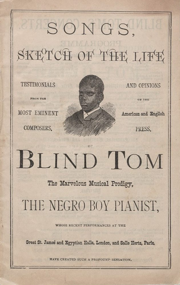 Blind Tom Sketches of the Life