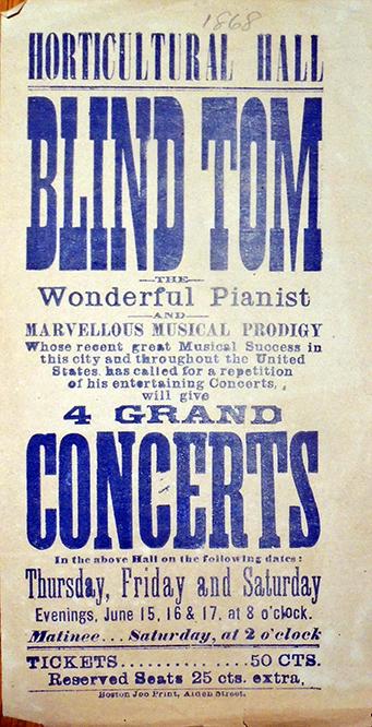 Blind Tom poster 1868