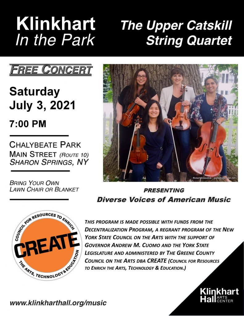 Upper Catskill String Quartet poster