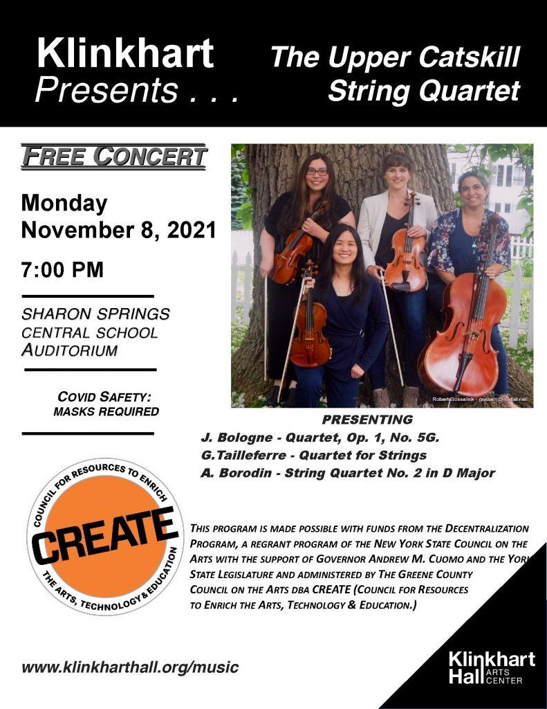 Upper Catskill String Quartet-Fall poster